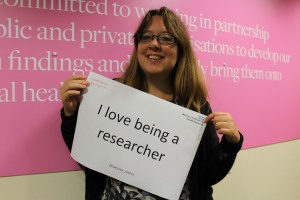 I love being a researcher
